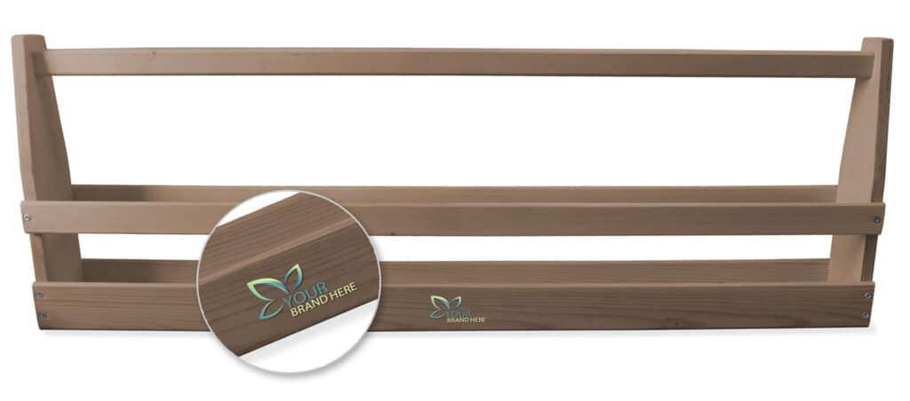 skrzynka drewniana na napoje z logo